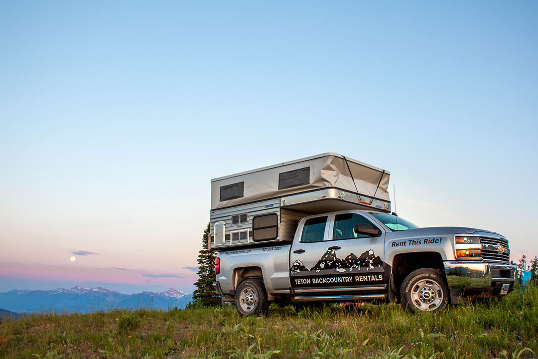 Truck Campers For Rent Teton Backcountry Rentals