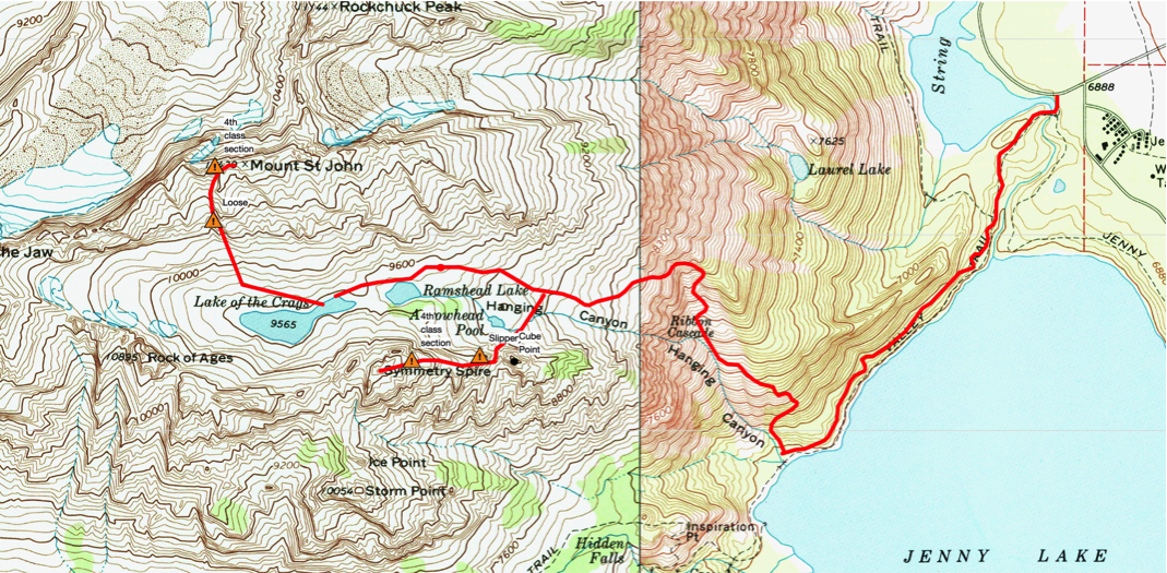 Hanging Canyon map